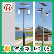 IP65 IP Rating CCT outdoor solar led garden lights with 3m galvanized pole 15w led source