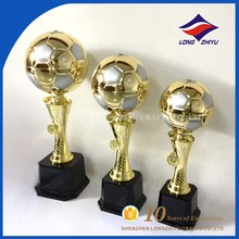 Gold Plating Metal World Cup Soccer Ball Trophy