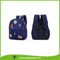 High Quality Cotton Canvas Carton Badge Kids School Bag