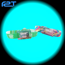 2017 New funny festival woven wristband rfid custom woven rfid wristband