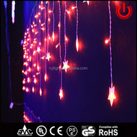 crystal star red christmas decorative icicle lights