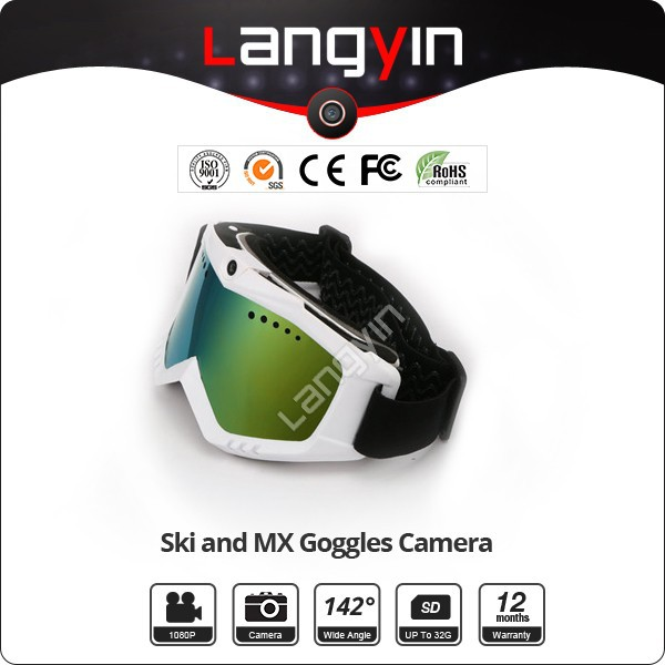 720p goggles camera 720P ski goggles with video camera( Lens optional)