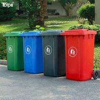 Wholesale 240 liter industrial container plastic waste bin with wheels