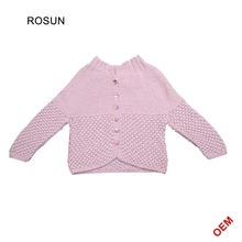 Pink child woolen sweater designs for children kids boys