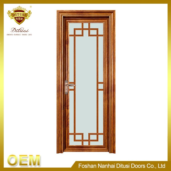 Modern interior fashion style design aluminium bathroom swing doors PK-2005