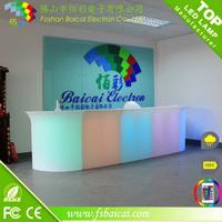 led illuminated bar counter from china foshan baicai furniture factory