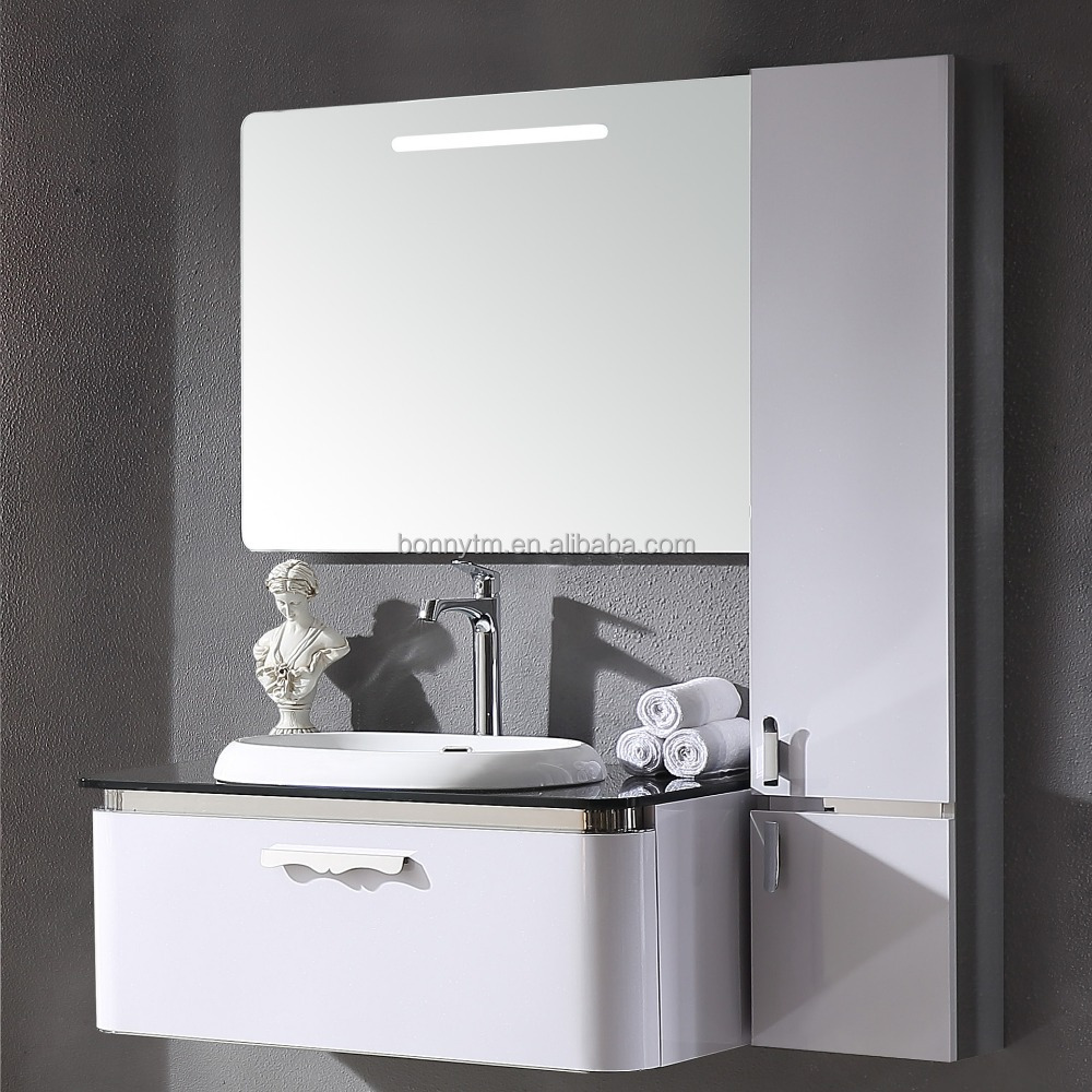 Hot Modern Stainless Steel Bathroom Cabinet Style And Mirrored ...