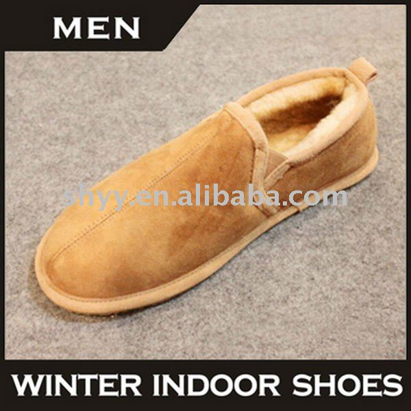 Genuine leather indoor shoe men casual loafer shoes