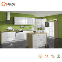 Green & healthy modern fitted kitchens made in china( CDY-S578)