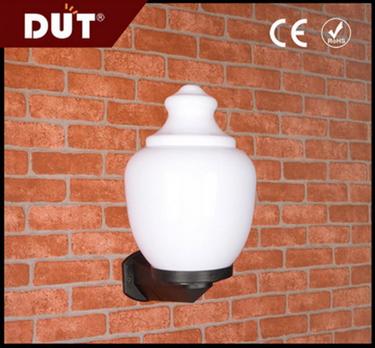 outside use stable color pmma plastic temple shade garden wall lamp light