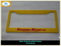Plastic ABS standard American 6X12inche size custom car license plate frame