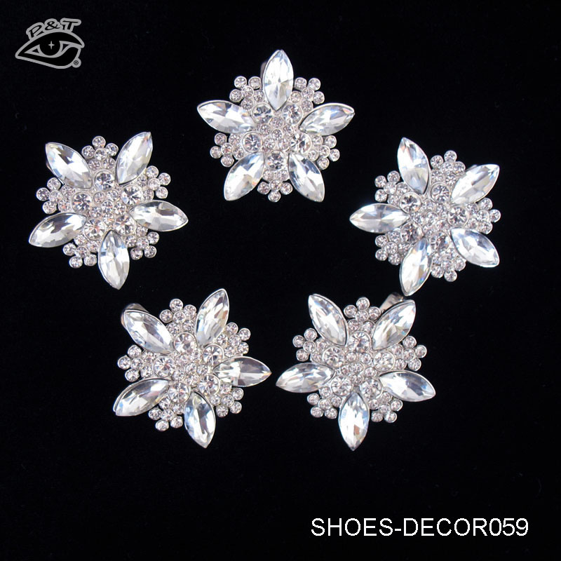 3.8x3.8cm Star Shape Rhinestone High Heels Shoe Clips For Decorations