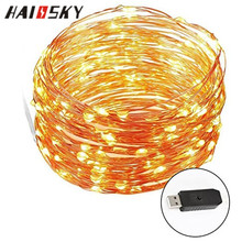 HAISSKY Waterproof Decorative LED String Lights 33 feet with 100 LEDs for Home Decoration,Shop Window,Club,Hotel,Festival