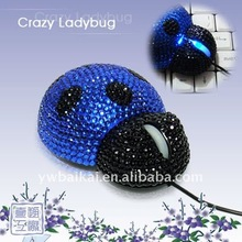 Ladybug cute design wired animal shaped mouse