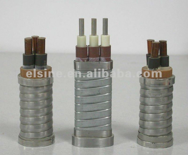 EPR insulated,lead sheathed,armoured cable for submersible oil pump ESP cable