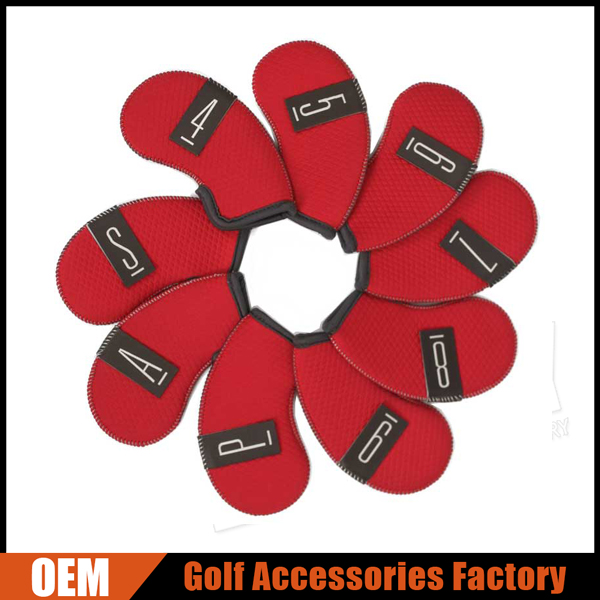 Custom Neoprene Iron Golf Cover Set With Six Colors