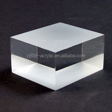 Shinning Surface Polished Clear Acrylic Resin Block 10*10*3cm
