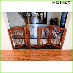 Durable Wood Portable Dog Fence Pet Product Homex_BSCI Factory