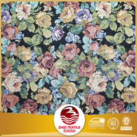 150cm width jacquard tapestry and upholstery fabric flower sofa