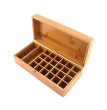 Bamboo Wooden Essential Oil Bottles Storage Box
