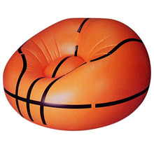 Basketball Shape PVC Lightweight Indoor Outdoor Inflatable Sofa Bed