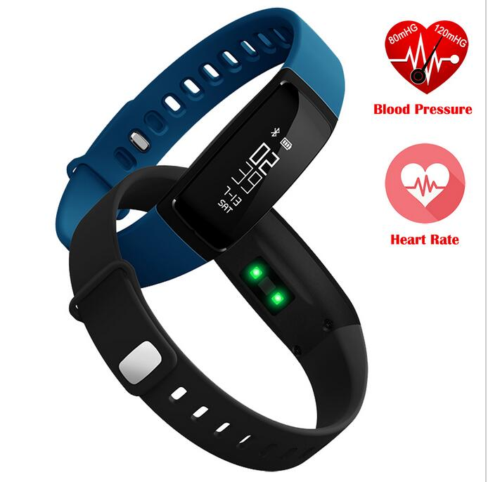 V07 Smart Band Blood Pressure Bracelet Heart Rate Fitness Tracker Pedometer Bluetooth 4.0 Wristband Watch For iOS Android Xiaomi