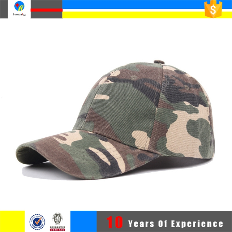 Custom Cotton Embroidered Military Camo Baseball Hats