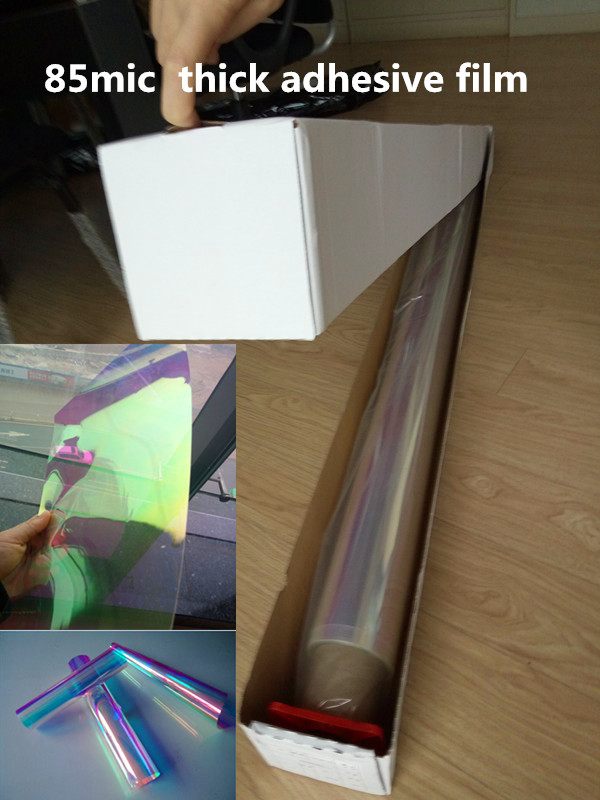 Self Adhesive Dichroic Rainbow Solar Tint Window Film for Building Glass