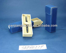 Blue paper pen gift box with a sleeve made in China
