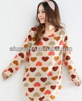 Hot new fashion women dress long sleeve big size dresses
