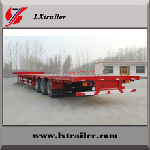 Step wise container 45ft carrier flat deck semi-trailer tri axles truck trailer for sale