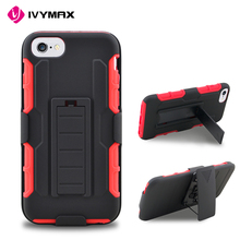 IVYMAX New stylish robot holster belt clip combo case for apple iphone 7 kickstand 3 in 1 cellphone accessories