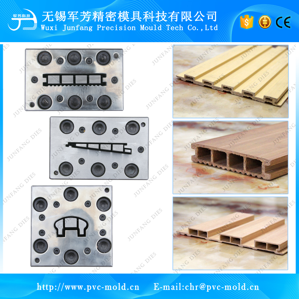 Extrusion mould for Outdoor application WPC plastic composite skirting board sheet