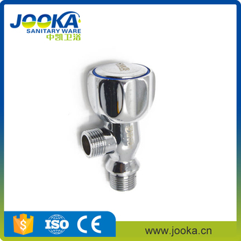 Fast shipping chrome plating toilet zinc water angle valve