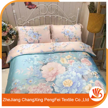 Wholesale printed with colorful flowers bed sheet