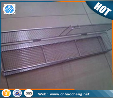304 stainless steel wire mesh medical baskets/storage basket