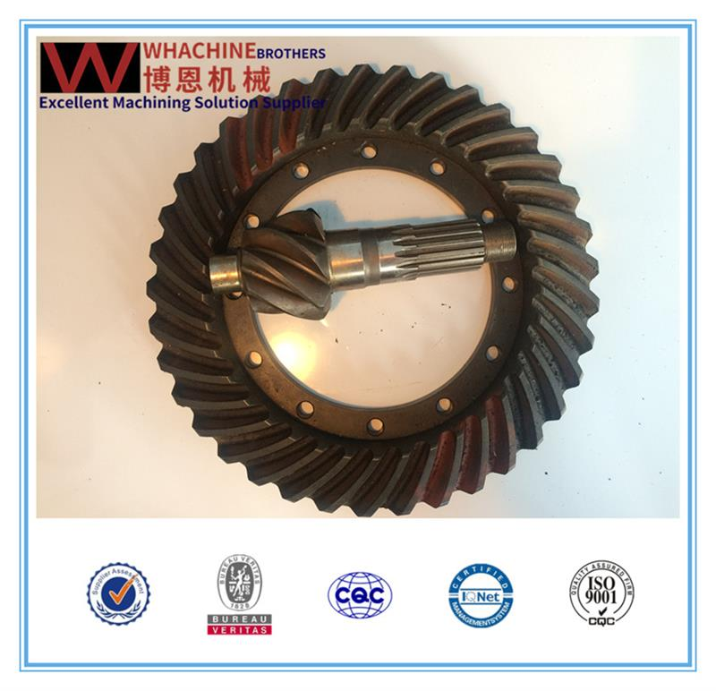 Multifunctional rear axle spiral bevel gear with great price
