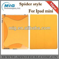 spider style leather case for ipad mini, for mini ipad case