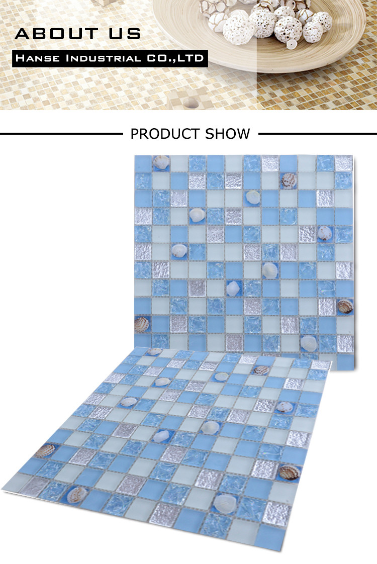FD-88 300X300MM Foshan low price swimming pool crystal glass mosaic