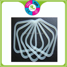 Flat clear color square rubber gasket