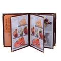 A4 Food Menu Book Folder Hotel Menu Card Covers