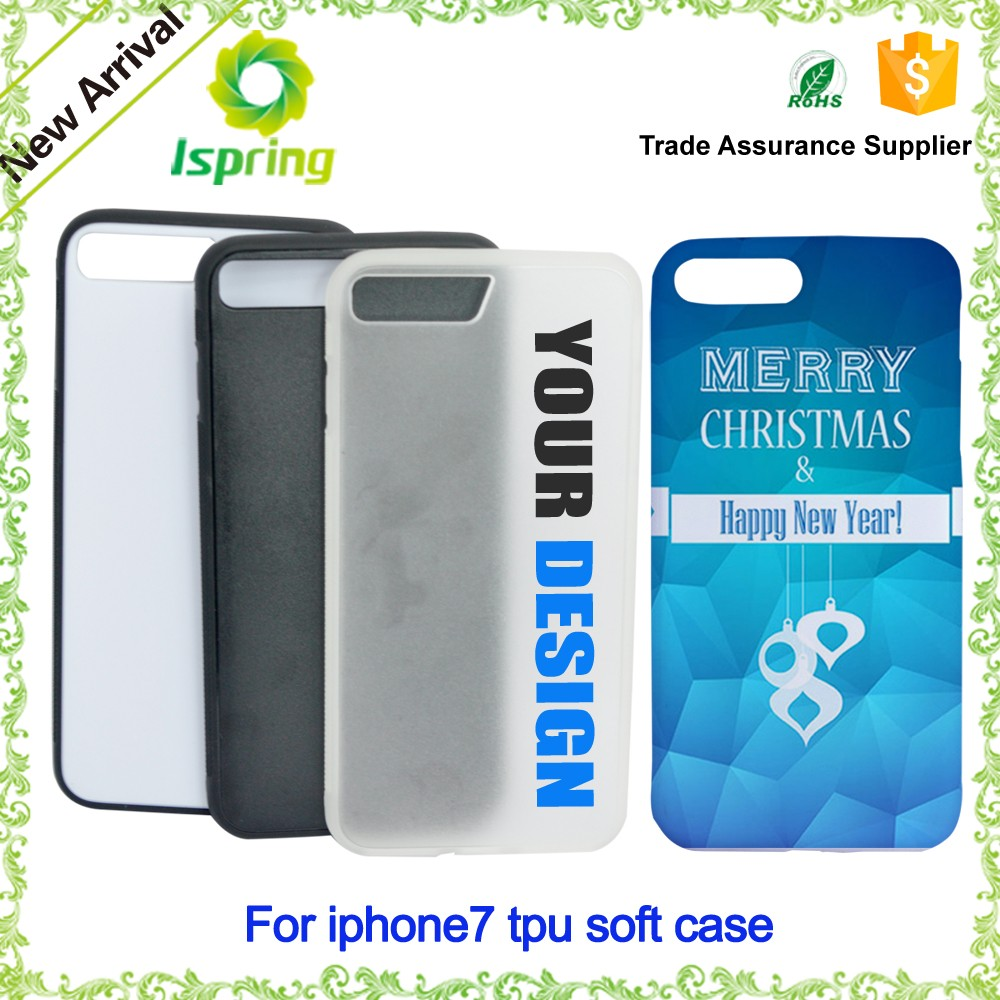 2016 Wholesale Customized Printing Soft TPU Bumper Cover For iphone 7 Case