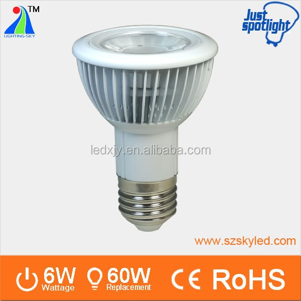 Hot&best!!Epistar par20 par30 par38 LED Spotlight,cob smd 6w 9w 12w 18w PAR light 85-265V AC High Power LED spotlight