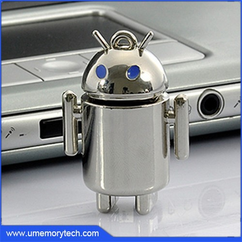 Metal mini robot usb u drive best price pen drive high quality flash drive factory price