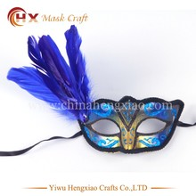 Hot sale feathers painted venetian masquerade mask buy cheap