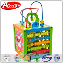 Hot sale multifunctional wooden activity cube