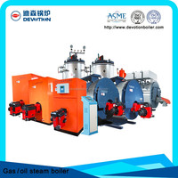 steam boiler with oil & gas fuel oilon burner
