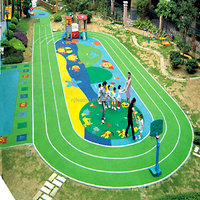 Rubber Playground Floooring, Colorful Rubber Flooring For Play Areas -FN-D150904