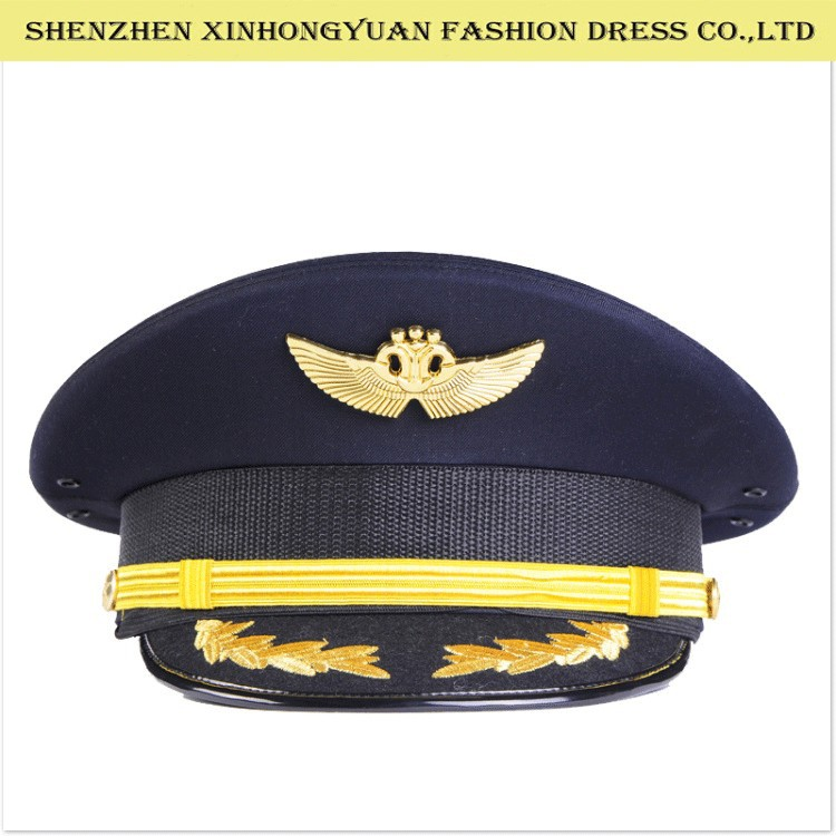 metal logo chinese pilot army cap military army hats