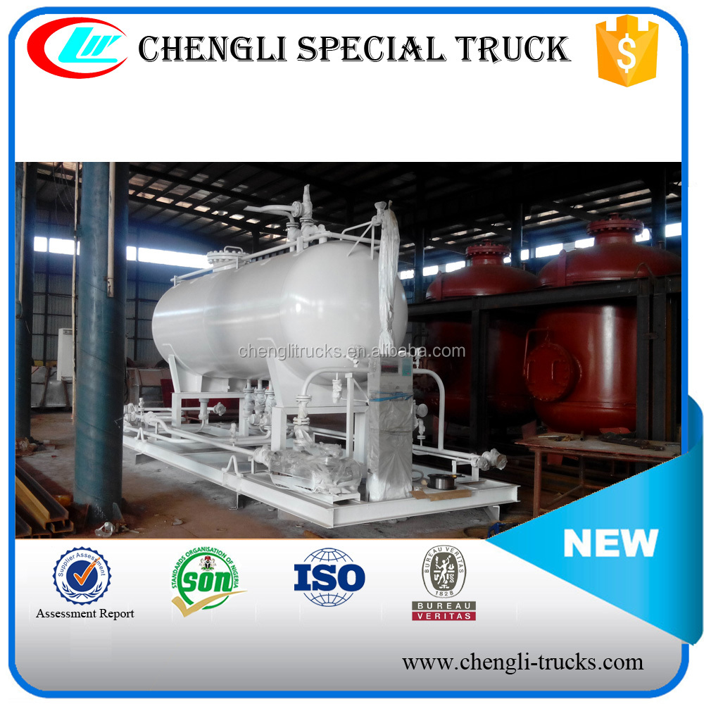 China Low Price LPG Mobile Gas Plant 40000 Liters with Double Nozzle Dispenser for LPG Storage and Filling Station